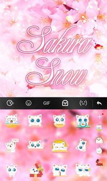 Sakura Snow Keyboard Theme apk screenshot