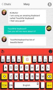 TouchPal Pop Art Red Theme screenshot 1