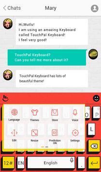 TouchPal Pop Art Red Theme screenshot 2