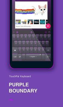 Purple Boundary Keyboard Theme poster