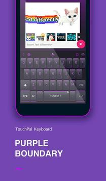 Purple Boundary Keyboard Theme poster