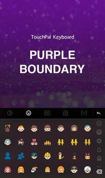 Purple Boundary Keyboard Theme apk screenshot