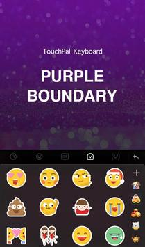Purple Boundary Keyboard Theme apk screenshot