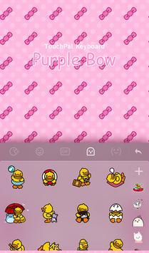 Purple Bow FREE Keyboard Theme apk screenshot