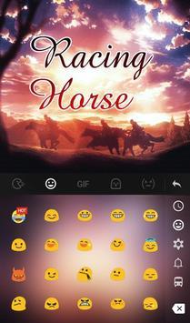 Live Racing Horse Keyboard Theme screenshot 2