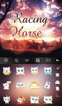 Live Racing Horse Keyboard Theme screenshot 3