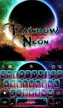 Rainbow Neon FREE Keyboard Theme poster