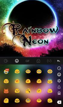 Rainbow Neon FREE Keyboard Theme apk screenshot
