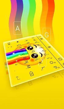 Live 3D Rainbow Animation Keyboard Theme screenshot 2