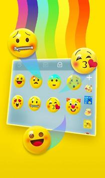 Live 3D Rainbow Animation Keyboard Theme screenshot 4