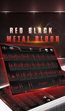 Red Black Metal Blood Keyboard Theme poster