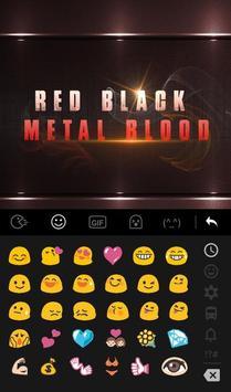Red Black Metal Blood Keyboard Theme apk screenshot