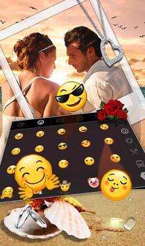 Romantic Love Couple Photo Keyboard Theme 截圖 2