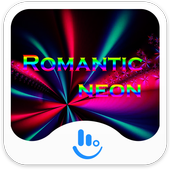 Romantic Neon Keyboard Theme icon