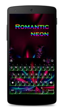 Romantic Neon Keyboard Theme poster
