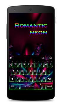 Romantic Neon Keyboard Theme poster