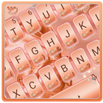 Silk Rose Gold Butterfly Keyboard Theme APK