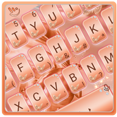 Silk Rose Gold Butterfly Keyboard Theme 圖標