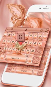 Silk Rose Gold Butterfly Keyboard Theme 海報