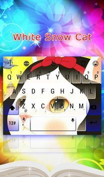 Snow Cat White Keyboard Theme poster