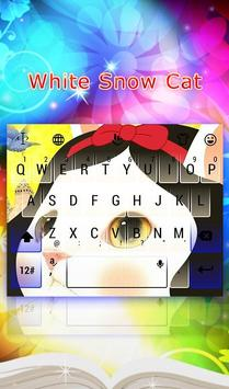 Snow Cat White poster