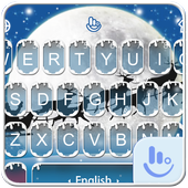 Live 3D Snowy Christmas Keyboard Theme icon