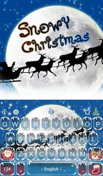 Live 3D Snowy Christmas Keyboard Theme poster