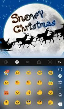 Live 3D Snowy Christmas Keyboard Theme screenshot 2