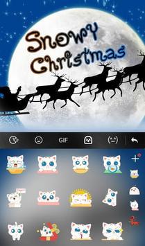 Live 3D Snowy Christmas Keyboard Theme screenshot 3