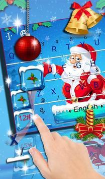 Snowy Santa Christmas Keyboard Theme poster