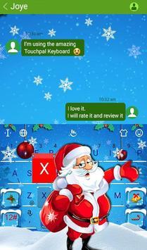 Snowy Santa Christmas Keyboard Theme screenshot 1