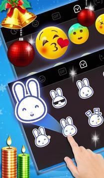 Snowy Santa Christmas Keyboard Theme screenshot 3