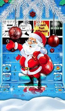 Snowy Santa Christmas Keyboard Theme screenshot 4