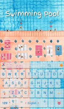 Summer Swimming Pool Keyboard poster