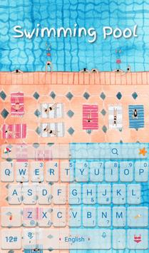 Summer Swimming Pool Keyboard poster