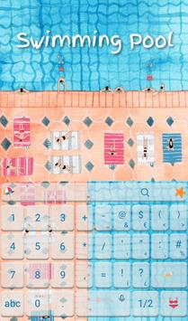Summer Swimming Pool Keyboard apk screenshot