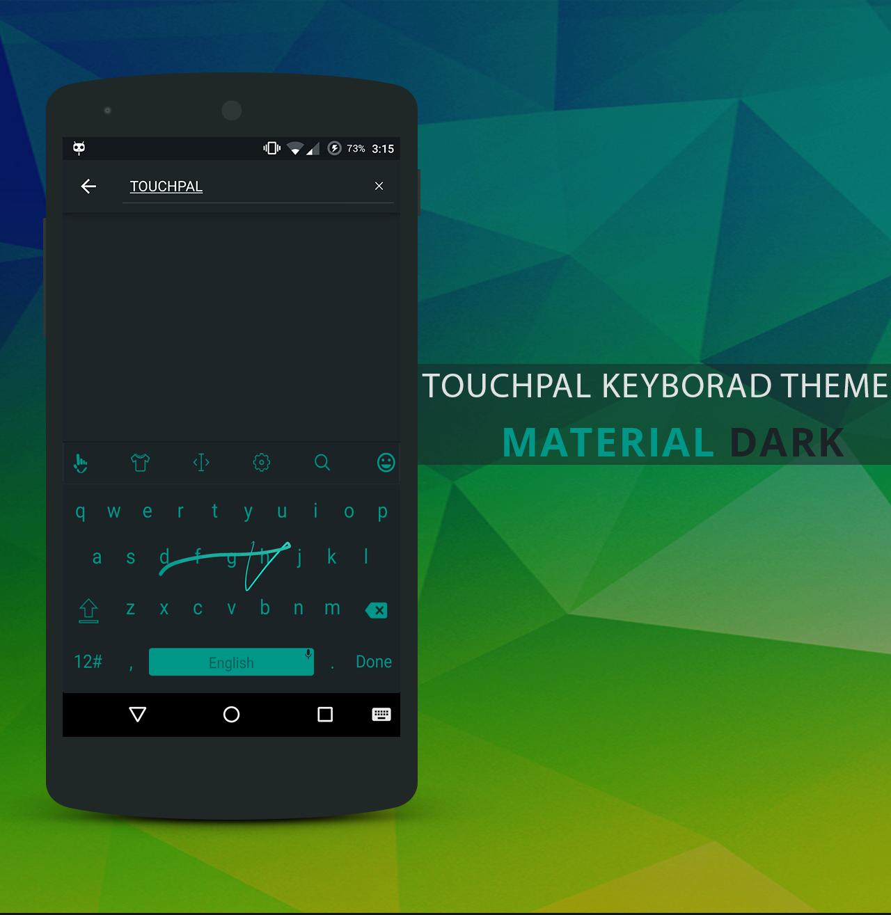 Material Dark TouchPal Theme for Android - APK Download
