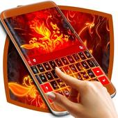 Red Fire Keyboard icon