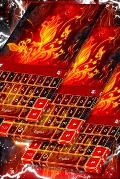 Red Fire Keyboard poster