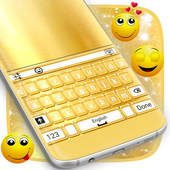 Shiny Gold Keyboard Theme icon