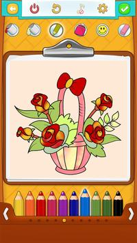 Flower Coloring Pages Poster
