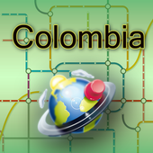 Colombia Map icon