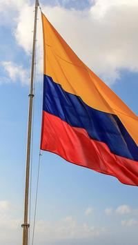 colombian flag wallpaper poster