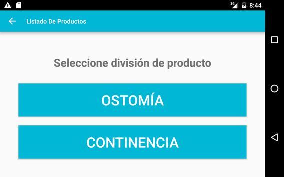 Listado de Productos Coloplast apk screenshot