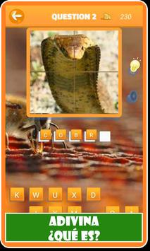 Animales: Cuestionario de animales en español screenshot 4