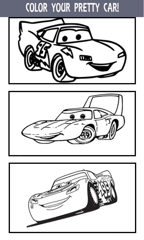 Mcqueen coloring pages cars 3 apk Coloring book 2018 apk