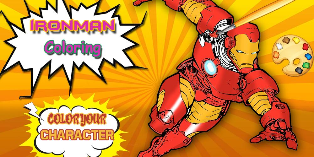 Iron-man Coloring pages :Superheroes Coloring book for Android - APK ...