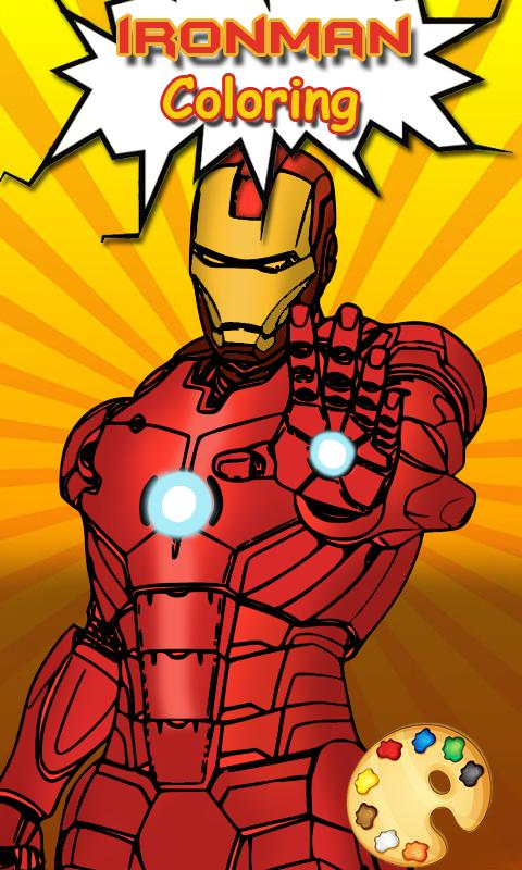 Iron-man Coloring pages :Superheroes Coloring book for ...
