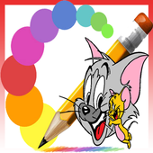 COLORING THE TOM AND MOUSE icon