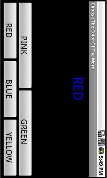 Choose The Color Of The Word apk screenshot